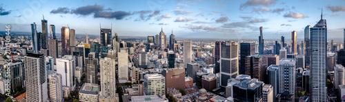 Montage in der Fensternische Grau Aerial Panorama Drone Melbourne
