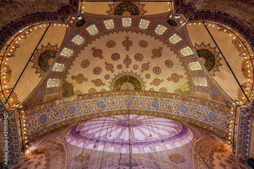 Fotografie, Obraz The Sultan Ahmed Mosque in Istanbul, Turkey.