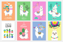Cute Llamas, Alpacas And Cactu...