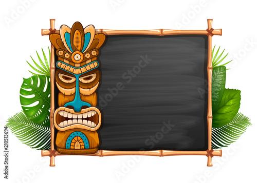 Maska Tiki I Bambusowa Rama