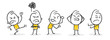 Strichfiguren / Strichmännchen: Wut. (Nr. 255)