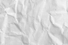 Close Up Crumpled White Paper ...
