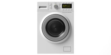 Clothes Washer, Dryer Machine Isolated Cut Out On White Background. 3d Illustration