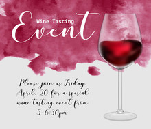 Wine Tasting Event Flyer Templ...