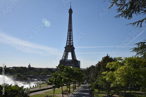 Deurstickers Eiffeltoren Jardin du Trocadéro et tour Eiffel à Paris, France