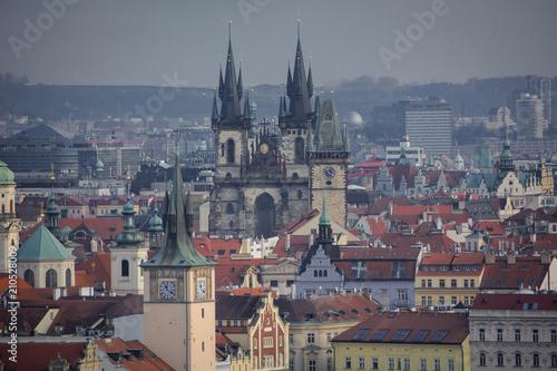 Staande foto Praag The streets of Prague. Prague, Czech Republic. 2014-01-05