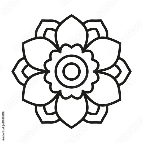 Simple Mandala. Vector Lines. - Buy this stock vector and ...