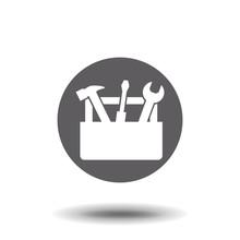 Tools Box Icon. Concept Web Bu...