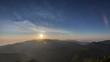 初夏の石鎚山から見えるご来光