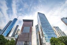 Frankfurt Bankenviertel Hochhäuser Skyscrapers