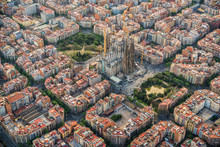 Barcelona Aerial View, Eixampl...