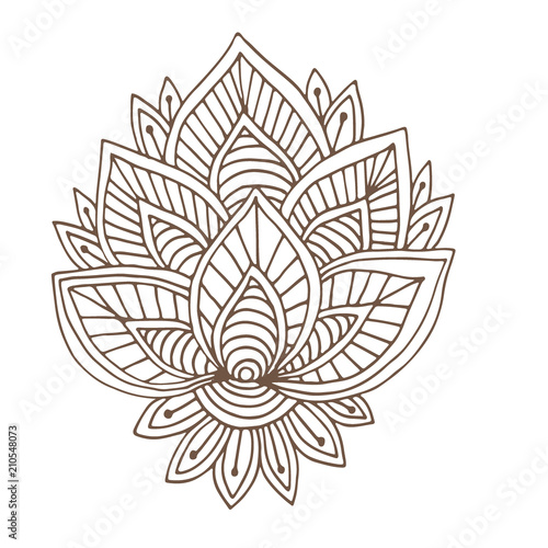 - Indian Vector Ornament. Henna Tattoo Design. Coloring Book Page. - Buy This  Stock Vector And Explore Similar Vectors At Adobe Stock Adobe Stock