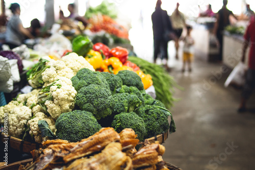 Broccoli in the vegetable market In Asia