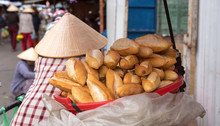 French Baguette Seller At Outd...