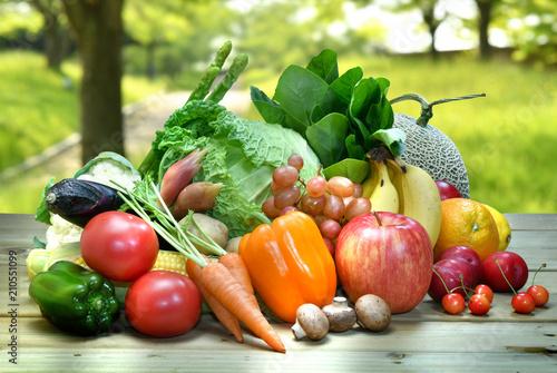 Fototapeta 野菜とフルーツ obraz