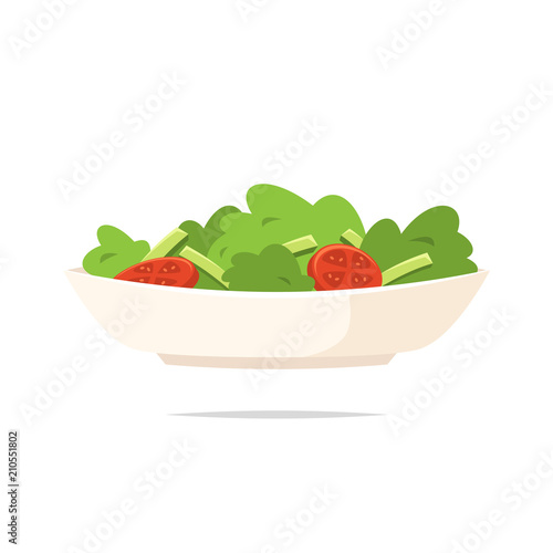 Cuadros en Lienzo  Salad icon vector isolated