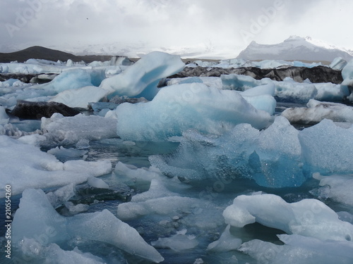 In de dag Gletsjers Gletscher auf Island