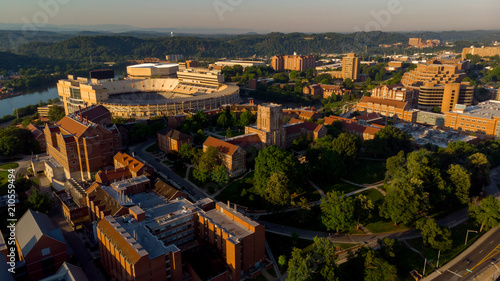 Foto op Plexiglas Stadion University of Tennessee football stadium and campus in the early morning light