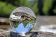Leinwandbild Motiv Sense bei Thörishaus in Kristallkugel, Bern, Schweiz