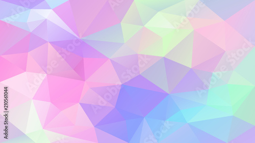 vector abstract irregular polygonal background - triangle low poly pattern - cut Wallpaper Mural