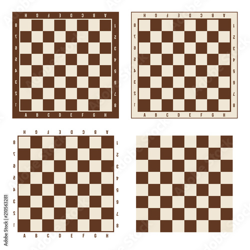 Fotografia Creative vector illustration of chess board set isolated on transparent background
