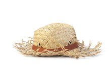 Straw Hat Isolated On A White ...