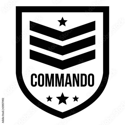 Cuadros en Lienzo Commando badge logo