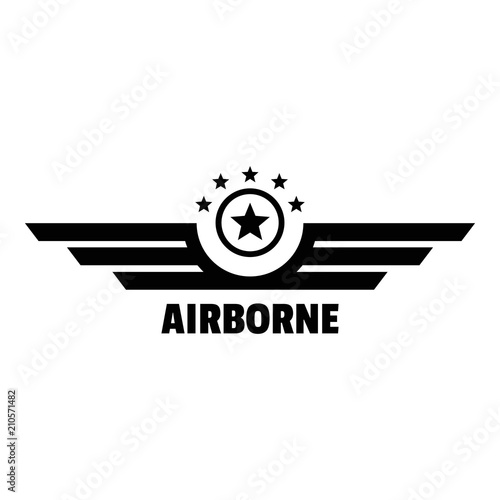 Airborne logo Canvas Print