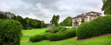 View Of The Royal Castle Of Laeken And Its  Manicured Gardens In Brussels Belgium