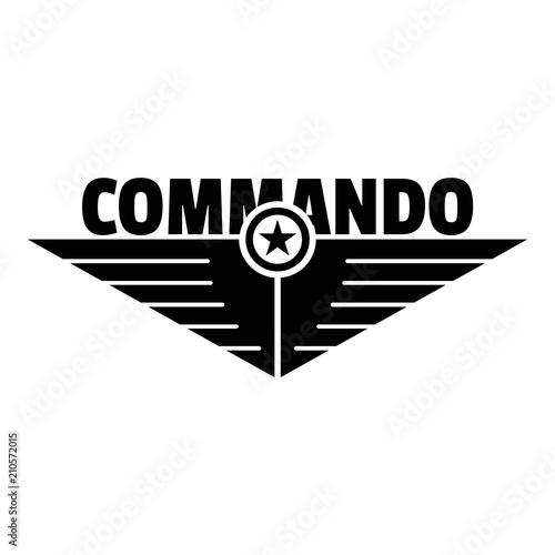 Fotomural Commando logo