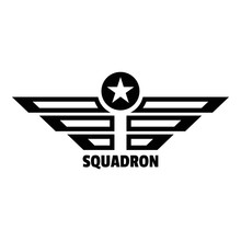 Squadron Logo. Simple Illustration Of Squadron Vector Logo For Web Design Isolated On White Background