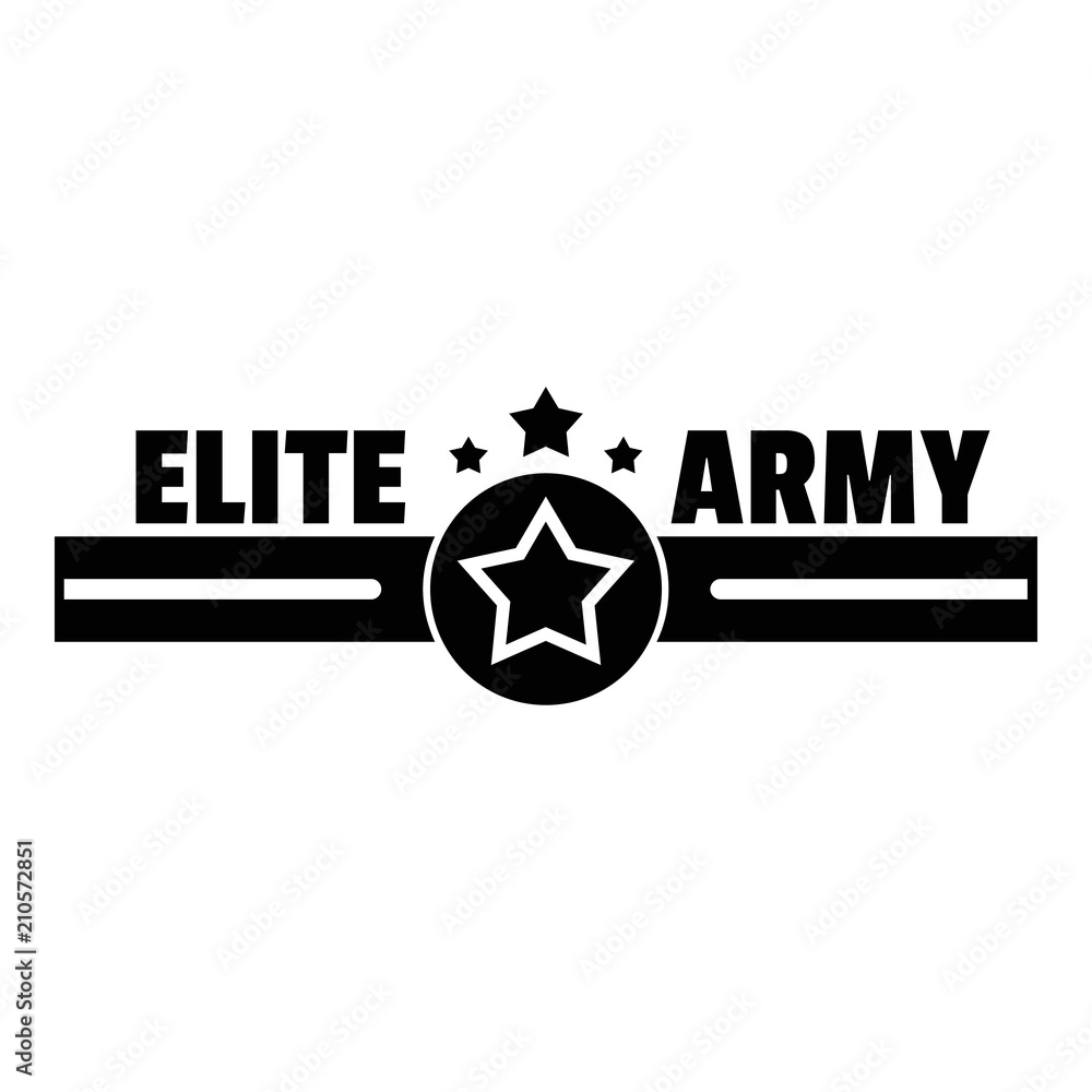 Elite army logo Poster | Sold at Europosters