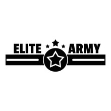 Elite Army Logo. Simple Illustration Of Elite Army Vector Logo For Web Design Isolated On White Background