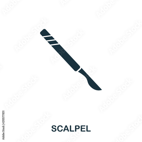 Scalpel icon Canvas Print