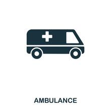 Ambulance Icon. Line Style Ico...