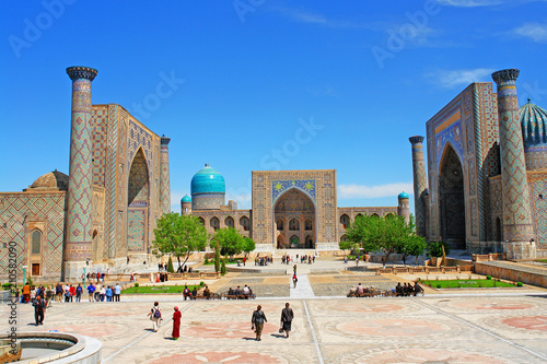 Foto op Plexiglas Historisch geb. The Registan - the heart of the ancient city of Samarkand in Uzbekistan