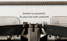 Text Invest In Yourself, It Pa...
