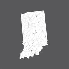U.S. States - Map Of Indiana. ...