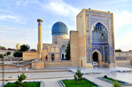 Foto op Plexiglas Historisch geb. Gur-Emir mausoleum of Tamerlane (Amir Timur) and his family in Samarkand, Uzbekistan