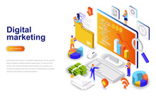 Digital Marketing Modern Flat ...