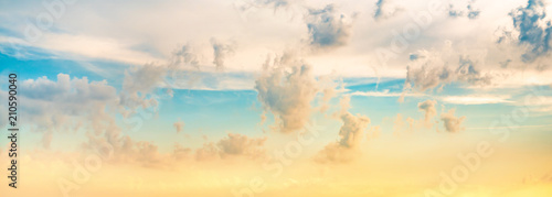 Colorful sky with clouds as background Canvas Print