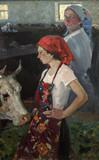 obraz olejny, portret, ręcznie robiony - 210591202