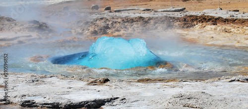 Hot geyser Canvas Print
