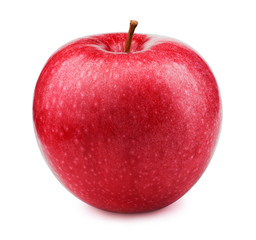 Fresh red apple fruit isolated on the white background with clipping path. One of the best isolated apples that you have seen.