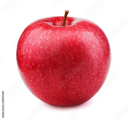 Fototapeta Jabłko  fresh-red-apple-fruit-isolated-on-the-white-background-with-clipping-path-one-of-the-best-isolated-apples-that-you-have-seen