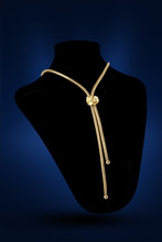 Golden Nacklace Close Up