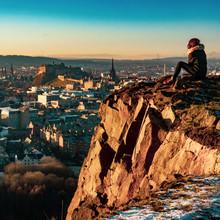 Edinburgh Girl At Sunset
