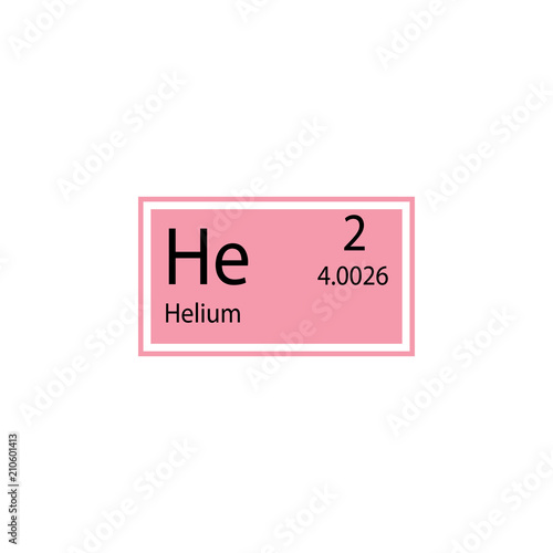 Periodic Table Element Helium Icon Element Of Chemical Sign Icon