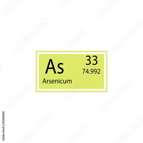 Periodic Table Element Arsenicum Icon Element Of Chemical Sign Icon
