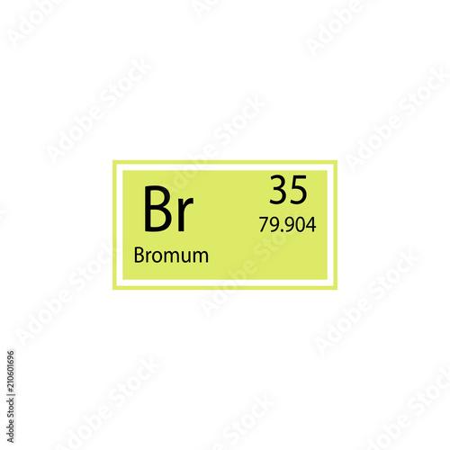 Periodic table element bromum icon element of chemical sign icon periodic table element bromum icon element of chemical sign icon premium quality graphic design urtaz Image collections